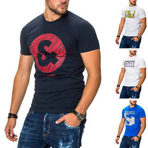 Jack-amp-Jones-Herren-T-Shirt-Print-Shirt-Kurzarmshirt-Casual-Graphic-Tee-Top