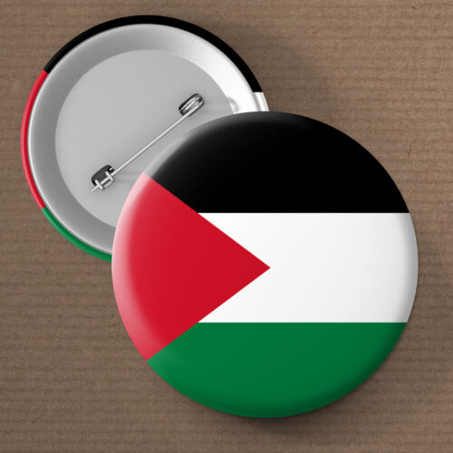 Palestine National Flag Button Pin Badge 25mm 45mm 58mm