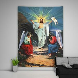Jesus-Chirst-Wandteppich-Kunst-Wandbehang-Tisch-Bettdecke-Wohnkultur