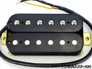 new alnico 5 humbucker pickup guitar parts 4 wire black bridge position ebay. Black Bedroom Furniture Sets. Home Design Ideas