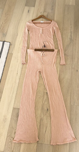 LPA Matching Top Bodysuit And Pants Large Sparkle