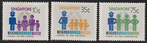 (103)SINGAPORE 1983 NEIGHBOURHOOD WATCH SET 3V MNH