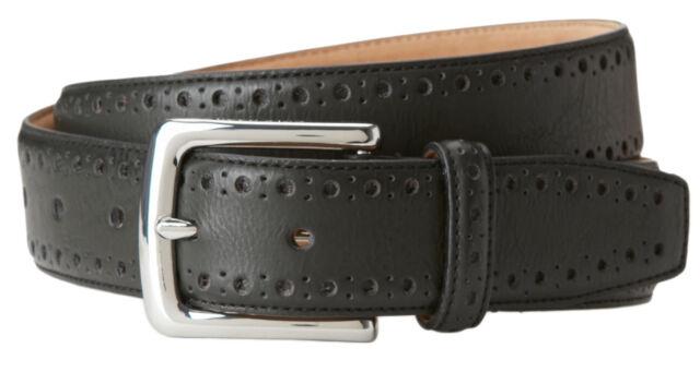 Cole Haan CHDM31039 BLK Black Perforated Trim Belt