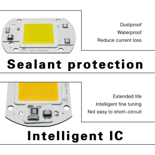 20W 30W 50W LED Floodlight COB Chip 110V 220V Integrated Smart IC Spotlight