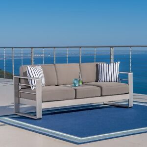 Fantastic Details About Outdoor Sofa Fabric Aluminum Frame Cushion Patio Furniture Modern Garden Pdpeps Interior Chair Design Pdpepsorg
