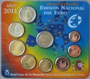 ESX2011.1 - SERIE BU EUROS ESPAGNE - 2011 - 1 cent à 2 euros + 2€ Cours des Lion