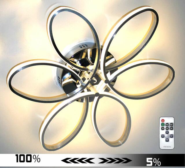 Dimmbar XL 60cm LED Deckenlampe Deckenleuchte Decken Lampe Leuchte Blume Warm