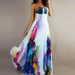 Women-039-s-Floor-Length-Chiffon-Sleeveless-Elegant-Tube-Maxi-Vintage-Evening-Dress