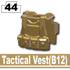 Dark Tan BR1 Tactical Vest for LEGO army military brick minifigures