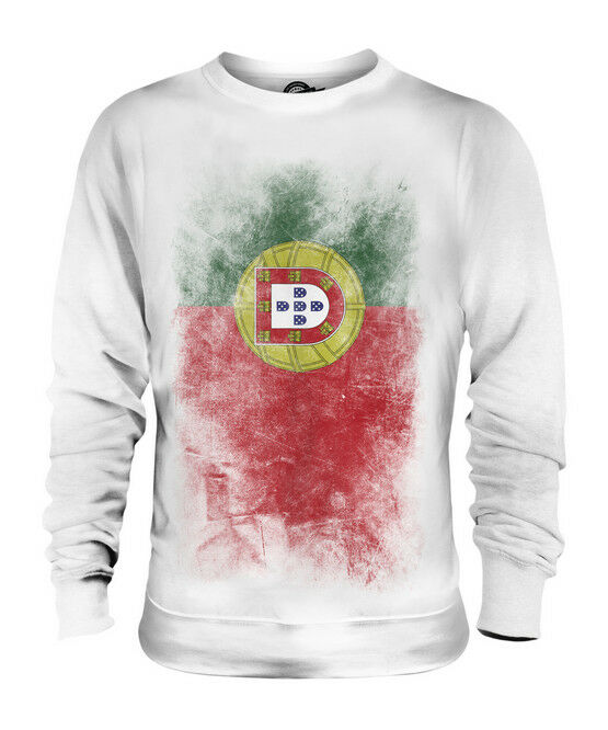 PORTUGAL FADED FLAG UNISEX SWEATER TOP PORTUGUESE SHIRT FOOTBALL JERSEY GIFT