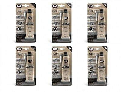 Baustoffe & Holz Clever 6x K2 Silikon Silikon Hochtemperatur Dichtmasse 350° Schwarz 85g Um Eine Reibungslose üBertragung Zu GewäHrleisten