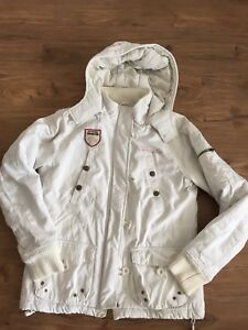 the latest 2293d fda02 Details zu Tomster weiße Winterjacke warme Jacke Damen Größe M