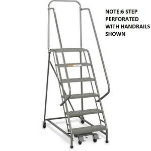 Admirable Details About New Ega Steel Industrial Rolling Ladder 2 Step 30 Wide Grip Strut 450Lb Cap Squirreltailoven Fun Painted Chair Ideas Images Squirreltailovenorg