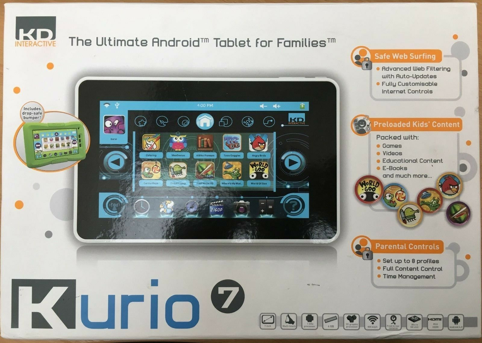 Kurio 7 Android Tablet With 7 Inch Touch Screen for Kids