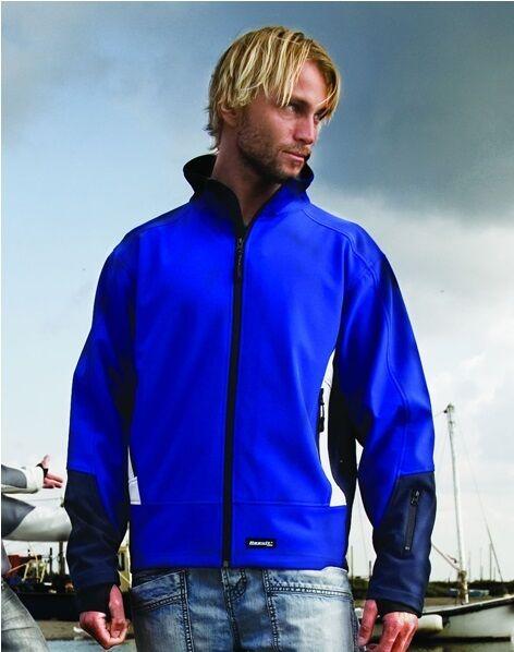 Result 3 Layer Fleece Lined Softshell Jacket Coat grau Grün or Blau