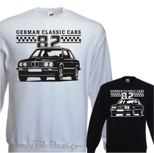 Pullover Sweatshirt Oldtimer Youngtimer 318 320 323 E 30 1982 Ford Opel BMW usw.
