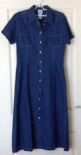 Laura Ashley cotton denim button shirt dress size  12