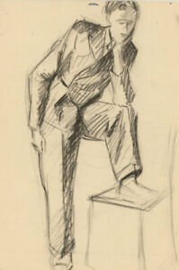 Over-20-Mid-20th-Century-Graphite-Drawing-Portfolio-of-Drawings-and-Prints