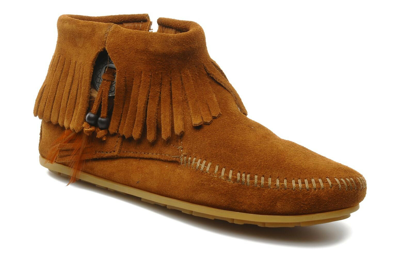 Original Minnetonka Conchofeather BT Gr. 39 Blogger, Moss, Boho