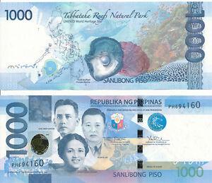 Philippines-Philippines-1000-Piso-2017f-UNC-Pick-NEW-Sign-tetangco