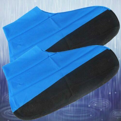 Women Men Rubber Rain Boots Reusable Latex Waterproof Shoes Cover Slip-resistant