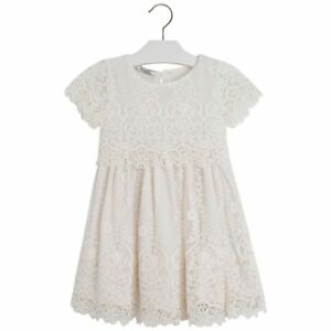 ac2a1dc029 Mayoral Little Girls 2T-9 Embroidered Lace Tulle Social Party Dress ...