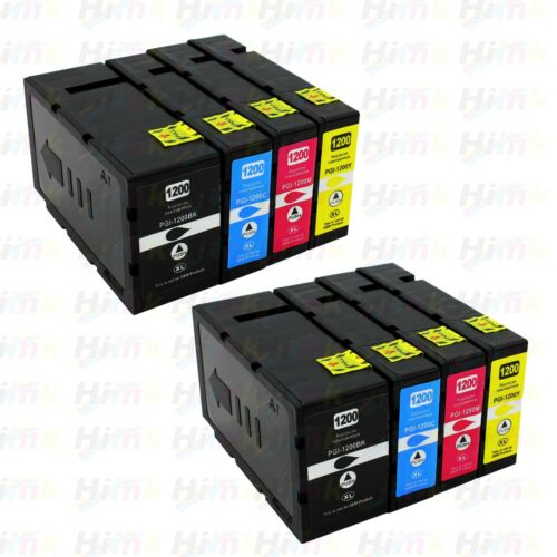 8PK PGI-1200XL High Yield Ink For Canon Maxify MB2020 MB2120 MB2320 MB2720