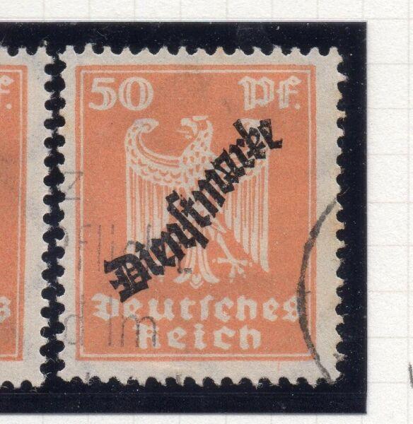 100% Vrai Allemagne 1923 Officiel Early Question Fine Utilisée 50pf. Optd 250839 Pour ExpéDition Rapide
