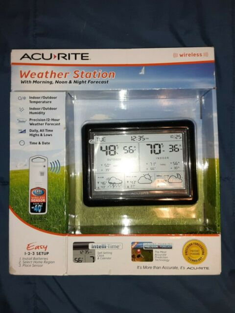 Acu Rite Weather Station With Morning, Noon, & Night Forecast   NEW