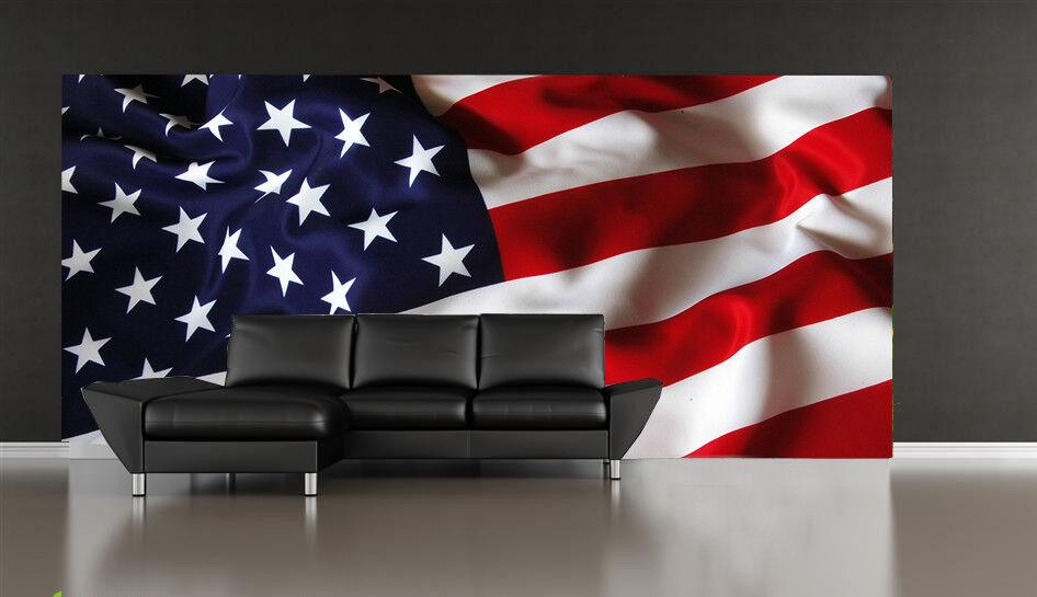 3D American Flag 821 Wall Paper Murals Wall Print Wall Wallpaper Mural AU Kyra