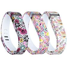 Fitbit Flex Wristbands Band Replacements 3PCS Silicon Fastener Ring Size Large