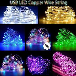 de-noche-Decoracion-lampara-Las-luces-de-hadas-LED-String-Alambre-de-cobre