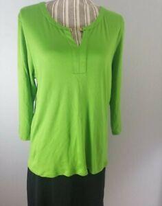 Talbots-Women-s-Shirt-Long-Sleeves-Green-Super-Soft-Cotton-Sz-XL