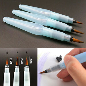 Doodle Water Brush Pen Tool Painting S//M//L Plastic Nylon hair Supply Refillable