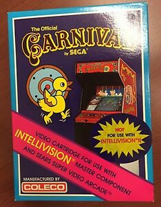 THE-OFFICIAL-CARNIVAL-BY-SEGA-Intellivision-Vintage-GAME-COLECO-MINT-BRAND-NEW