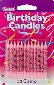 Image Is Loading 12 Pink Camouflage Birthday Cake Candle Toppers