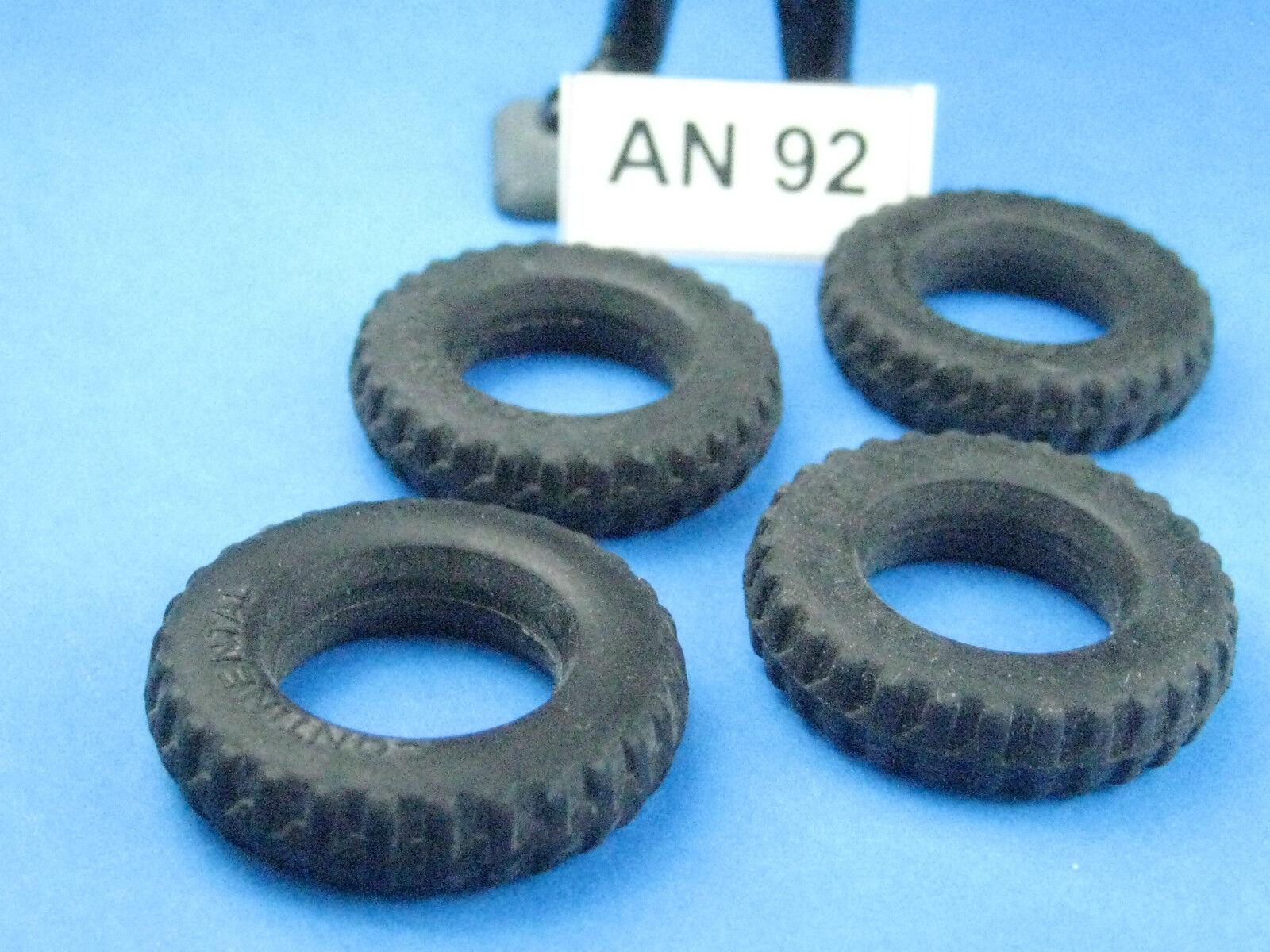 Gonio pezzo di Ø ricambio: 4 pneumatici in gomma Ø di 27 mm (an92) 6a3e8b