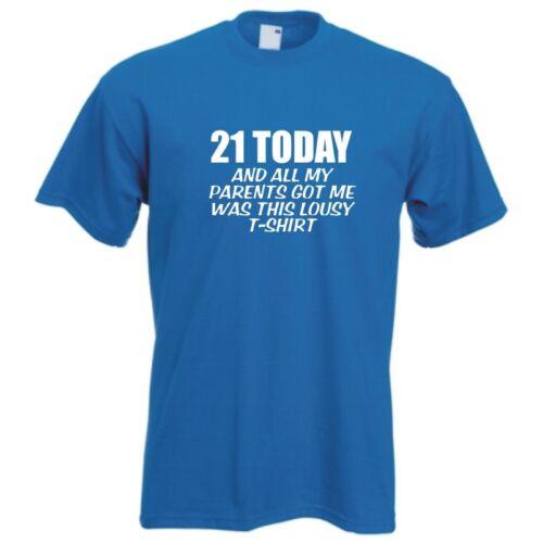 21st birthday celebration funny T-shirt bday custom new