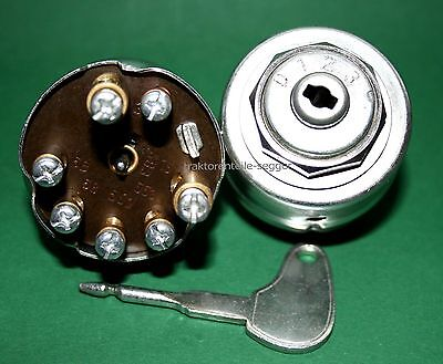 Zündschloss 0123 kpl. mit Zündschlüssel für Holder Schlepper Traktor Trecker