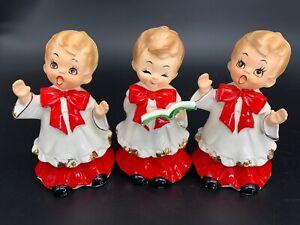 Rare-Vintage-Josef-Originals-Choir-Boy-Singing-Praises-Set-Lot-Of-3