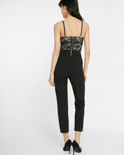 New Lace Jumpsuit Black 14 Sz Cami Express Piped f8trqfw