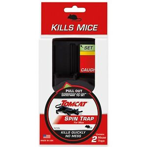 new tomcat small spin animal trap for mice 2 pk kills instantly no mess 0362110 ebay. Black Bedroom Furniture Sets. Home Design Ideas