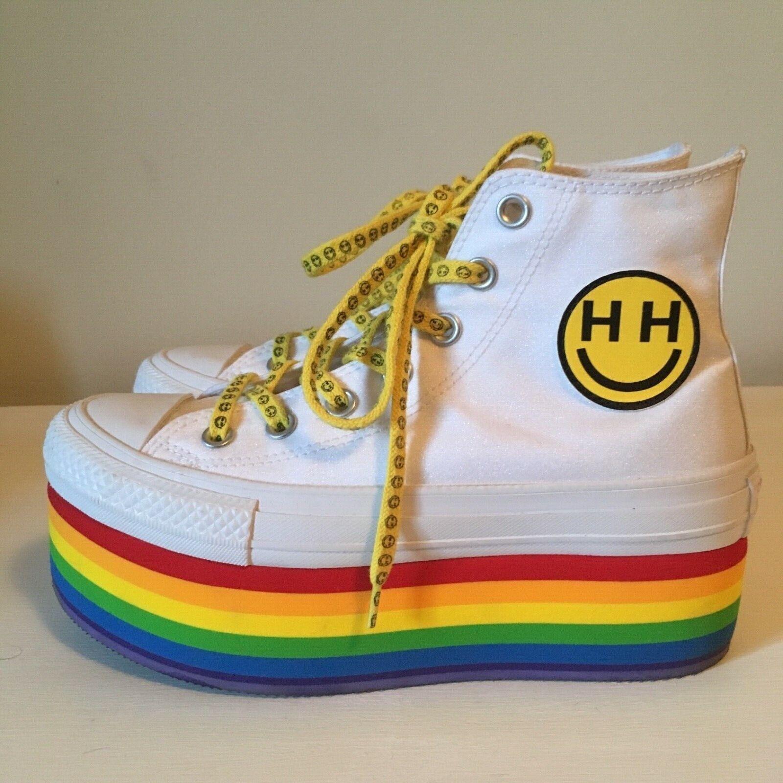Converse x Miley Cyrus rainbow pride platform shoes boots US 6.5-7