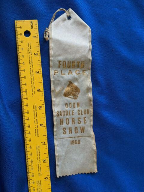 1949 Horse Show Ribbon Trophy 1st Prize Saddle Elnora Indiana Daviess County