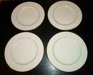 4-Noritake-HALLS-OF-IVY-gold-trim-8-1-2-034-Salad-Plates