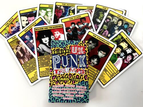 UK PUNK /'Trumps/' Card Game Sex Pistols,The Clash,The Fall,Buzzcocks,UK Subs
