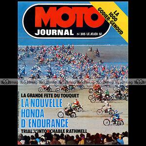 MOTO-JOURNAL-N-305-HONDA-RCB-GODIER-GENOUD-ENDURO-TOUQUET-MICHEL-ROUGERIE-039-77