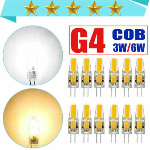 50pcs G4 COB LED Bulb AC DC 12V Dimmable Light Replace Halogen Lamp 20pcs 1pc