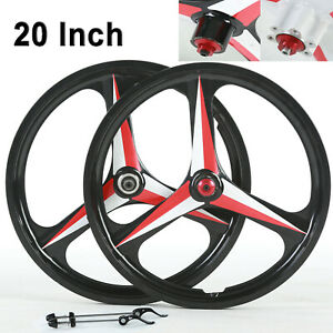 BMX-Cruiser-20-034-mountain-bike-wheelset-Disc-Brake-3-Spoke-Mag-Alloy-Bicycle-Rim
