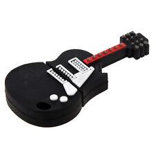 Mini USB 2.0 drive 4 GB fancy door guitar Rock white black with PC / Mac T1